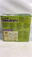 New in box Soft Speakers (box has been opened to