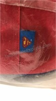 Superman Logo round ottoman  18 inch diameter and