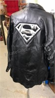 Northern Limits Superman Logo Black leather