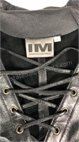 International Male Black leather lace up / zipper
