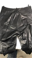 Wilsons Suede & leather black leather pants size
