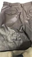 Rodelli Uomo Black leather pants size 38