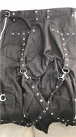 Tripp NYC  black denim strappy pants size M
