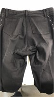 Fredericks of Hollywood black jeans with lace up