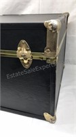 Seward vinyl covered wooden trunk with brass