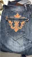 Raw Blue Brand Fashion Jeans Size 38x34