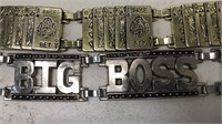 Lot of 2 Leather & Metal Fasion Belts Size M 41