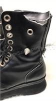 Demonia Platform Boots Chrome Toe Caps & Spikes