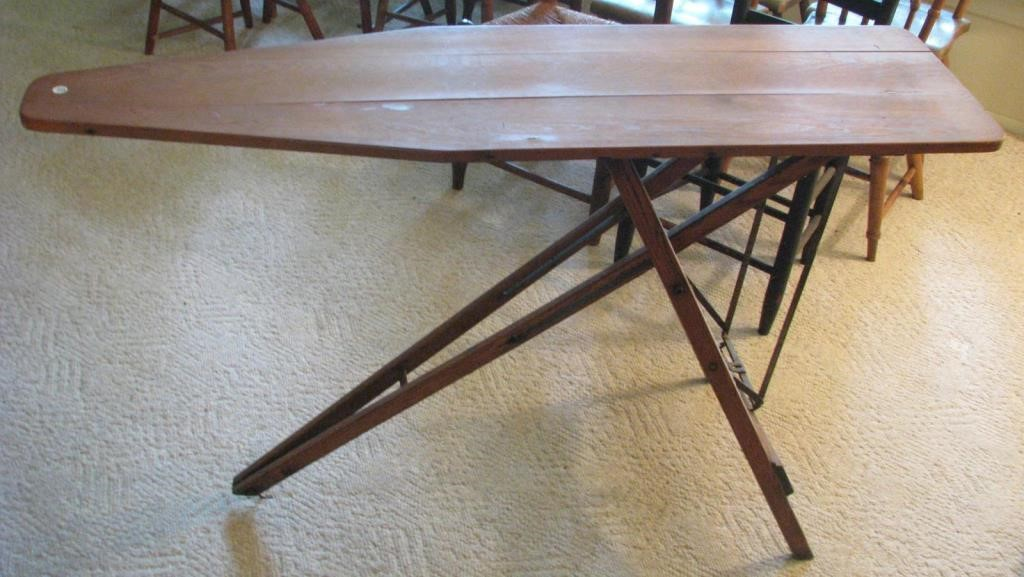 Antique Wooden Ironing Board Wickliff Associates Auctioneers Inc
