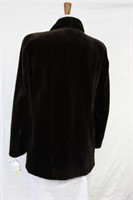Brown Sheared Mink jacket Size 12