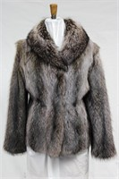 Silver tip Raccoon jacket Size 10
