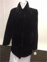 Black sheared Muskrat jacket size 10