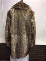 Men's Skin on Skin Natural raccoon coat size 40