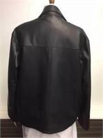 Men's Black Leather Jacket size Large by