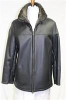 Ladies Sheep Skin Black jacket size small