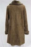 Taupe Shearling coat Size small Retail $1875.00