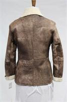 Brown Sheep Skin jacket size medium Retail $550.00