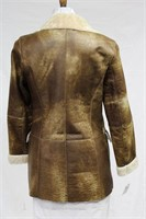Camel Sheep skin jacket size medium