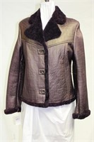 Purple Shearling jacket size small Retail $550.00