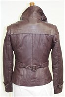 Aubergine Lamb Leather jacket size Small