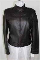 Brown leather coat size medium Retail $ 440.00