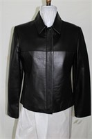 Black leather jacket size S/M Made in Canada