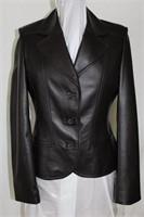 Brown leather blazer size S/M Retail $425.00
