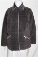 Chocolate washable suede jacket size large Retail