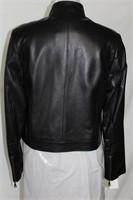 Black leather bomber jacket size M/L $395.00