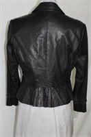 Black Lamb leather blazer size L Retail $385.00