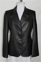 Black leather blazer size M/L Retail $425.00