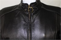 Leather racer jacket M/L Retail $485.00