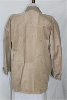 Suede jacket leather trim  S/M Retail $350.00