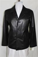 Black leather blazer Size small Retail$265.00