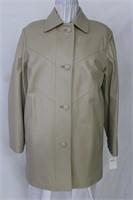 Cream lambskin jacket size small Retail $625.00