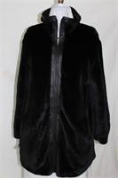 Black lambskin reversible faux  fur size sm/med