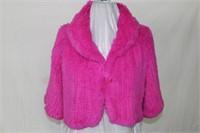Dyed rabbit shrug Retail $315.00