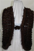 Mink popcorn vest Retail $ 450.00