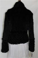 Black Mink knitted jacket  Med Retail $1425.00