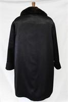 Satin finish Poplin car length coat with zip