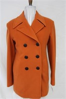Orange Camel Wool Cashmere blend Pea jacket Size S