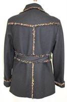 Black wool jacket Size L Retail $375.00