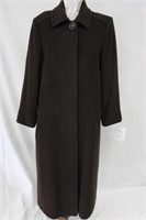 Wool & Cashmere blend coat Brown Size 10 Retail