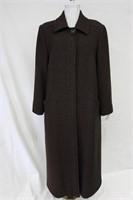 Wool blend Tweed coat Charcoal Size 10