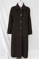 Wool Angora blend coat Brown Size 10