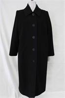 Wool & Cashmere coat Black size 14 Retail $450.00