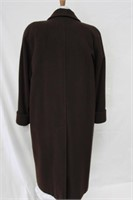 Wool & Cashmere coat Brown size 14 Retail $450.00