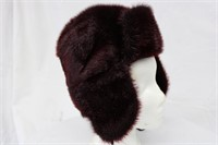 "Dyed Seal Plum hat size 22.5"" Retail $250.00"