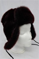 """Dyed Seal Plum hat size 21.5"""" Retail $250.00"""