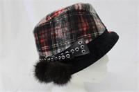 """Mink trim hat Size 23"""" Retail $75.00"""